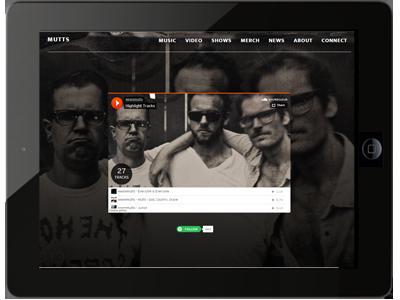 mutts website design
