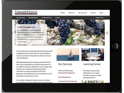 concord advisors website design